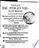 Obras De Pvblio Virgilio Maron