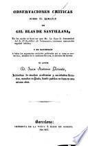 Observaciones críticas sobre el romance de Gil Blas de Santillana
