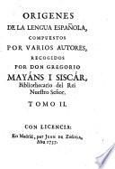 Origenes de la lengua española, compuestos