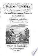 Pablo y Virginia por Jacobo Bernardino Enrique de Saint Pierre