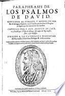 Paraphrasis de los psalmos de David