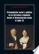 Pensamiento social y político en la literatura española