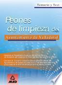 Peones de Limpieza Del Ayuntamiento de Valladolid. Temario Y Test Ebook