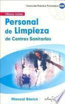 Personal de limpieza de centros sanitarios. Manual básico