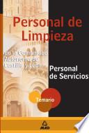 Personal de Servicios-personal de Limpieza de la Comunidad Autonoma de Castilla Y Leon. Temario Ebook