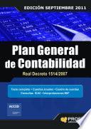 PLAN GENERAL DE CONTABILIDAD REAL DECRETO 1514/2007