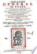Poblacion general de España