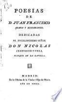 Poesías dedicadas al excelentisimo señor don Nicolas Centurion y Vera, marques de la Lapilla