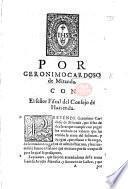 Por Geronimo Cardoso de Miranda. Con el señor Fiscal del Consejo de Hazienda