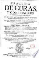 Práctica de curas y confessores y doctrina para penitentes