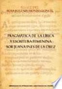 Pragmática de la lírica y escritura femenina