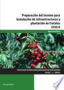 Preparación del terreno para instalación de infraestructuras y plantación de frutales