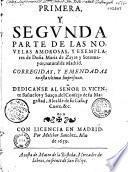 Primera y segunda parte de las novelas amorosas y exemplares de Doña Maria de Zayas y Sotomayor