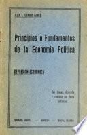 Principios o fundamentos de la economía política