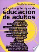 Principios y tecnicas de educacion de adultos