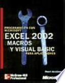 Programación con Microsoft Excel versión 2002