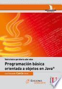 Programación orienta a objetos en Java