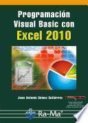 Programación Visual Basic con Excel 2010