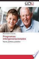 Programas Intergeneracionales