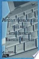 Propuesta de Programación de Aula Para El Módulo Sistemas Informáticos Monousuario Y Multiusuario