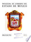 Proyecto de programa de gobierno del Estado de México