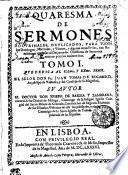 QUARESMA DE SERMONES DOCTRINALES