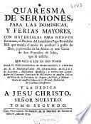 Quaresma de sermones, para las Dominicas y ferias mayores