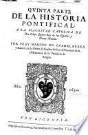Quinta parte de la historia pontifical y catolica ...
