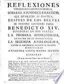 Reflexiones Theologico-canonico-medicas, sobre el ayuno eclesiastico...después de los breves de N.SS.Padre Benedicto XIV