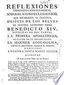 Reflexiones theologico-canonico-medicas, sobre el ayuno eclesiastico