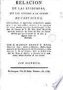 Relación de los epidemias que han afligido a la ciudad de Cartagena
