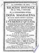 Relacion histórica de la vida de Magdalena de Ulloa