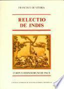 Relectio de Indis