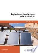 Replanteo de instalaciones solares térmicas
