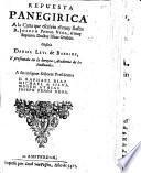 Repuesta panegirica a la Carta que escrivio el muy Ilustre R. Joseph Penso Vega, al muy Sapiente Doctor Ishac Orobio Glossala Daniel Levi de Barrios