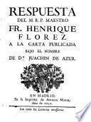Respuesta a la carta publicada bajo el nombre de Juachin de Azur (etc.)