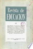 Revista de educación nº 63