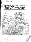 Revista de lengua y literatura