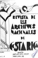 Revista del Archivo Nacional