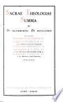 Sacrae theologiae summa: De sacramentis. De novissimis