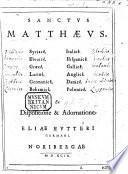 Sanctus Matthæus