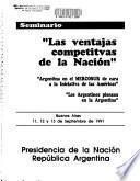 Seminario Las Ventajas Competitvas [sic] de la Nación