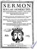 Sermon en las honras del reuerendissimo padre maestro fray Nicolas Baptista, ... Predicole el reuerendissimo P.M.Fr. Miguel de Cardenas, ..