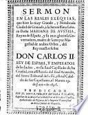 Sermon en las reales exequias ... del Rey nuestro senor Don Carlos II.