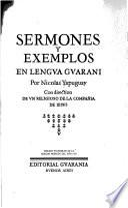 Sermones y exemplos en lengua guarani
