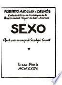 Sexo, aporte para un ensayo de sociología sexual