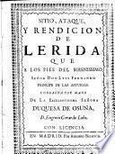 Sitio, ataque y rendicion de Lerida