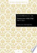 Sonatas para violín y bajo Vol. 3