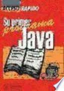 Su Primer Programa Java