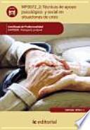Técnicas de apoyo psicológico y social en situaciones de crisis - MF0072_2